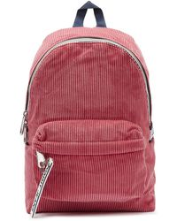 Tommy Hilfiger Tommy Jeans Logo Tape Mi Claret Red Corduroy Backpack