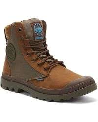 Palladium Pampa Sport Cuff Wpn Mens Bridle Brown Boots