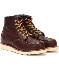 Red Wing Briar Oil Slick 6-inch Moc Toe Boots - Brown