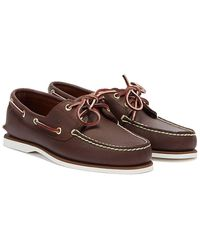 Timberland Classic Mens Brown Leather Boat Shoes