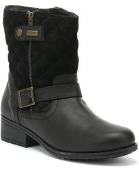 Barbour - Womens Black Sienna Ankle Boots - Lyst