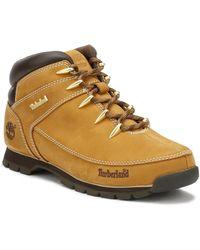 Timberland Mens Wheat Euro Sprint Hiker Boots - Yellow