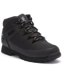 Timberland Euro Sprint Knit Mens Black Boots