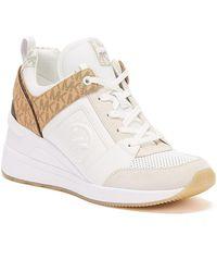 Michael Kors Georgie Leather Logo Womens White Trainers