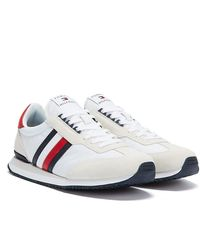 Tommy Hilfiger Stripe Baskets Blanches Pour