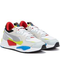 PUMA Rs-z White / Blue / Yellow Trainers