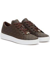Michael Kors Keaton Lace Up Sneaker Brown - Marron