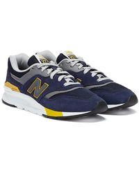 New Balance 997h / Mustard Trainers - Blue