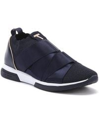Ted Baker Queana Womens Navy Textile Sneakers - Blue