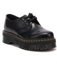 Dr. Martens 1461 Quad Smooth Leather Chaussures Noires Pour