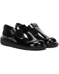 Kickers Kick Aztec Patent Shoes - Black