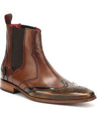 Jeffery West Mens Camel / Mid Brown Chelsea Shoes