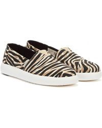 TOMS Alpargata Mallow Natural Liger Print Shoes