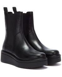 Vagabond Tara Leather Womens Black Boots