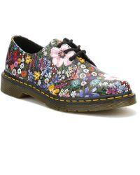 Dr. Martens - Dr. Martens Womens Black / Wanderlust Backhand 1461 Shoes - Lyst