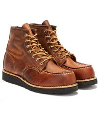 Red Wing Classic Moc Toe Copper Boots - Brown