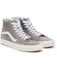 Vans Sk8-Hi Pig Suede Grau / Weiss Sneakers