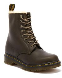 Dr. Martens Dr. Martens 1460 Serena Wyoming Womens Olive Brown Boots