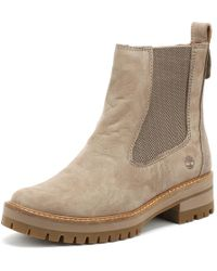 Timberland Womens Taupe Courmayeur Valley Chelsea Boots - Brown
