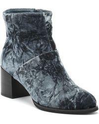 c00d82a8878 Shoe The Bear - Ceci Womens Dark Grey Velvet Boots - Lyst