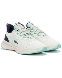Lacoste Run Spin Off / Light Blue Sneakers - White