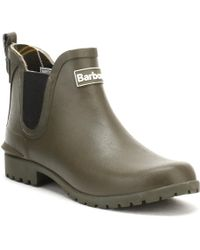 Barbour - Womens Olive Green Wilton Chelsea Boots - Lyst