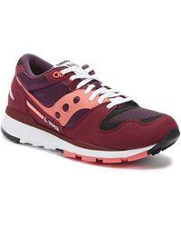 Saucony Azura Mens Maroon / Pink Sneakers