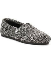 TOMS - Womens Black Sweater Knit Alpargata Espadrilles Women's Espadrilles / Casual Shoes In Black - Lyst