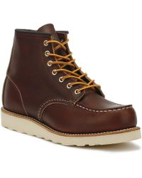 Red Wing Mens Briar Oil Slick 6-inch Moc Toe Boots - Brown