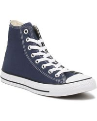 Converse - Mens Womens Navy All Star Hi Trainers - Lyst