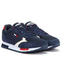 Tommy Hilfiger Tommy Jeans Retro Suede Mix Runner Marineblaue Sneakers