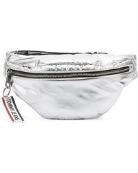 Tommy Hilfiger Tommy Jeans Logo Tape Silver Bum Bag - Metallic