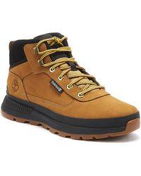 Timberland Field Trekker Mid Mens Wheat Yellow / Black Boots