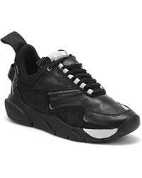 Clear Weather Aries Suede & Leather Sneakers - Black