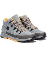 Timberland Sprint Trekker Mid Fabric Mens Grey Boots