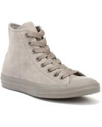 Converse - Chuck Taylor All Star Hi Womens Mercury Grey Trainers - Lyst