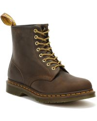 Dr. Martens Dr. Martens 1460 Crazy Horse Aztec Brown Leather Boots