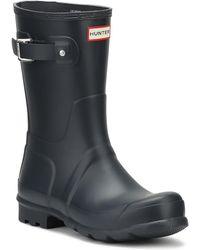 HUNTER - Original Mens Navy Short Wellington Boots - Lyst