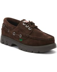 Kickers Lennon Mens Brown Boat Shoes