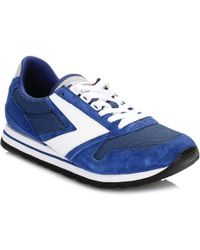 Brooks - Mens Navy Blue/white Chariot Trainers - Lyst