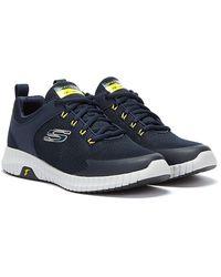 Skechers Elite Flex Marineblaue Sneakers