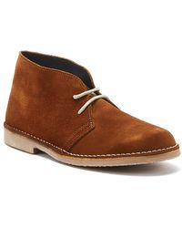 TOWER London Sahara Suede Mens Brown Boots Mid Boots