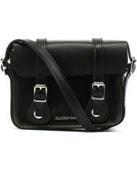 Dr. Martens Dr. Martens Black Kiev Leather Satchel -7-inch