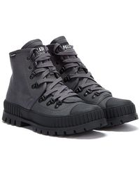 Palladium Pallashock Hiker Hi Boots - Grey