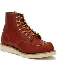Red Wing Red Wing 6-inch Moc Oro Russet Portage Shoes Mens Toe Boots - Brown