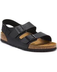 Birkenstock Milano Birko Flor Black Sandals