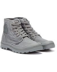Palladium Pampa Hi Dark Boots - Grey