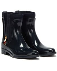 Tommy Hilfiger Corporate Zipper Rainboots - Blue