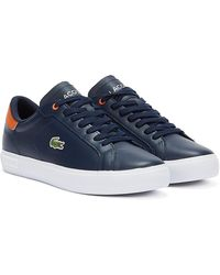 Lacoste Powercourt Sneaker marine homme - Bleu