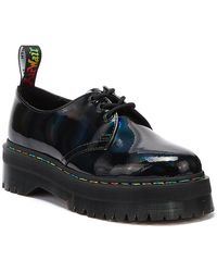 Dr. Martens Dr. Martens 1461 Quad Patent Rainbow Womens Black Shoes